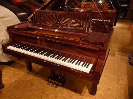 Piano d'occasion Steinway and Sons A188 acajou